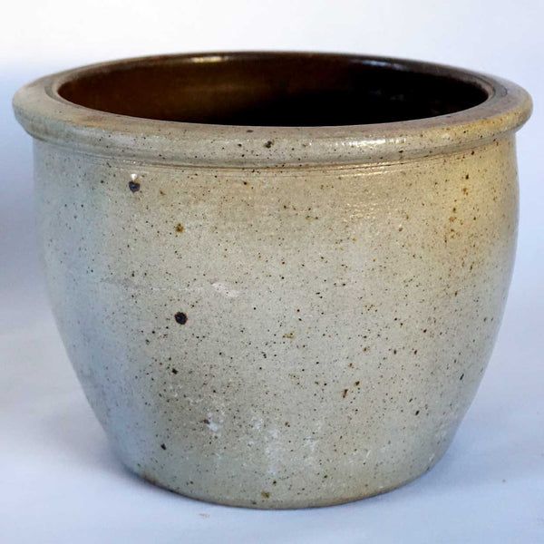 American Pennsylvania Stoneware Brown Glazed Ceramic Pot