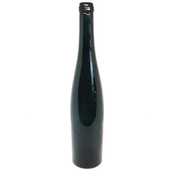 Scarce Large American Teal Glass Turn Mold Hock Shape Wine Bottle