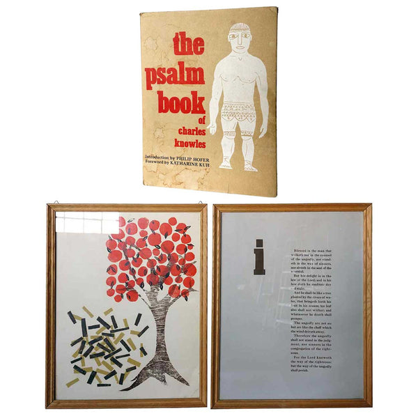Two Bookplates: The Psalm Book of CHARLES KNOWLES Woodcuts with Book
