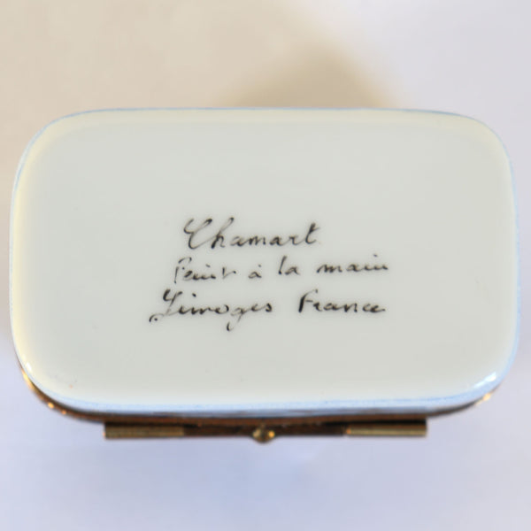 Vintage French Chamart Limoges Hand Painted Porcelain Mother's Day Dresser Box