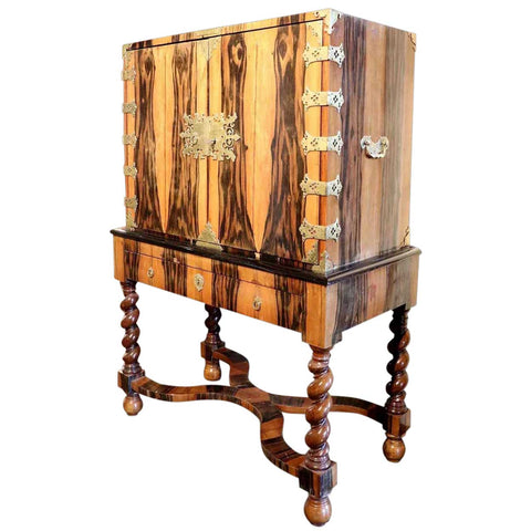 Dutch Jacobean Style Coromandel Wood Chest on Stand