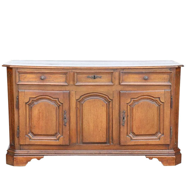 French Louis XV Oak Sideboard Buffet