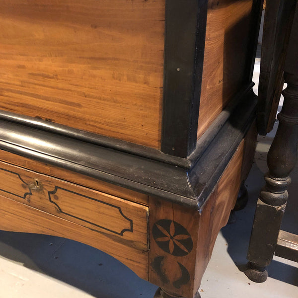 Dutch Colonial Satinwood and Ebony Blanket Chest