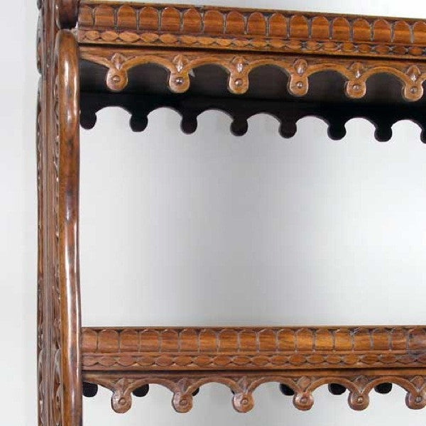Indo-Portuguese Rosewood Open Bookcase Shelf