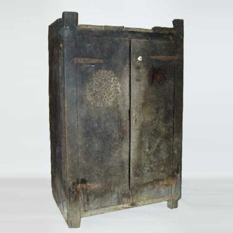 Portuguese Medieval 17th Century Chestnut Food Cupboard