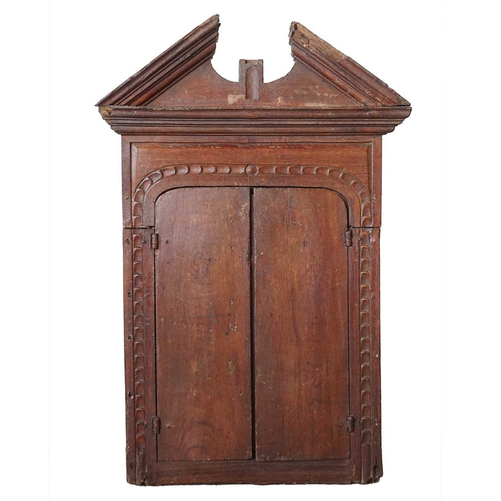 Small Indo-Portuguese Reliquary Hanging Cabinet - Antique Small Indo-Portuguese Reliquary Hanging Cabinet