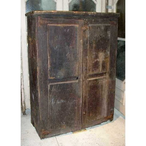 Early Portuguese 17th Century Chestnut Cupboard