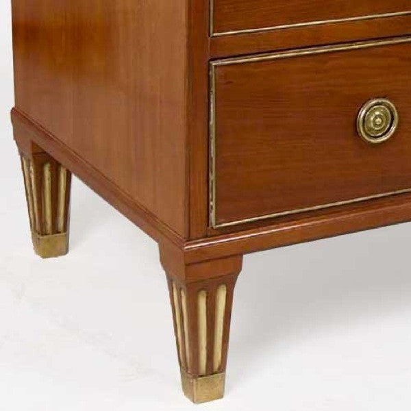 Swedish Gustavian Stone Top Mahogany Commode
