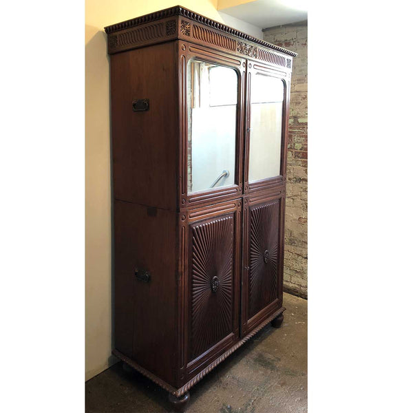Indo-Portuguese Rosewood Mirrored Linen Press