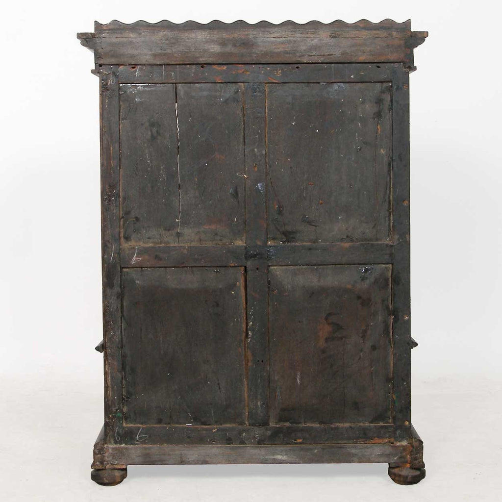 Antique Rare Anglo Indian Monghyr Ebony Miniature Cabinet | Eron ...