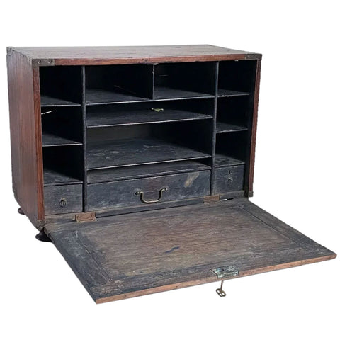 Anglo Indian Rosewood Campaign Table-top Cabinet