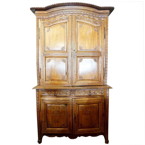 French Louis XVI Cherrywood Buffet a Deux Corps