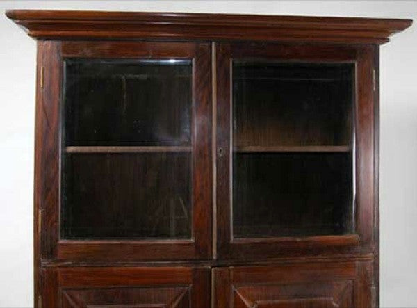 Anglo Indian Rosewood Bookcase Cabinet
