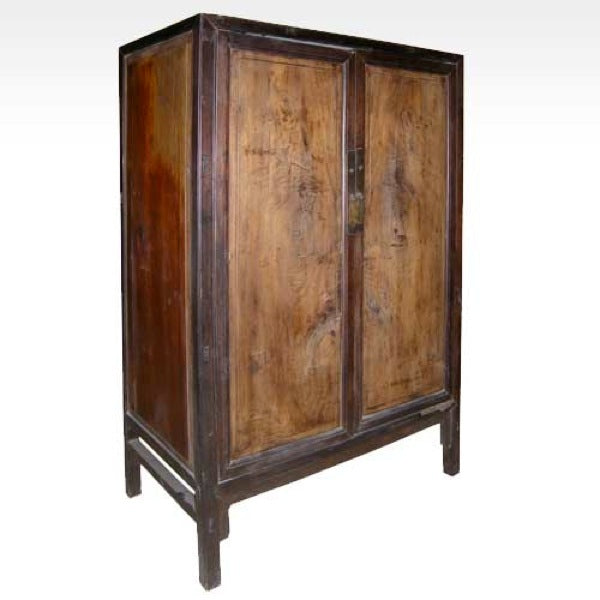 Chinese Camphorwood and Rosewood Side Cabinet