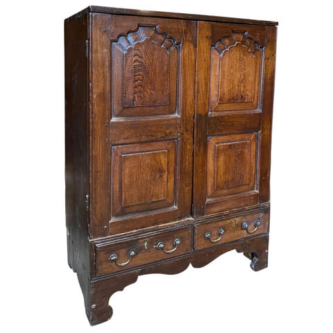 Small Anglo Indian Rosewood and Teak Side Cabinet