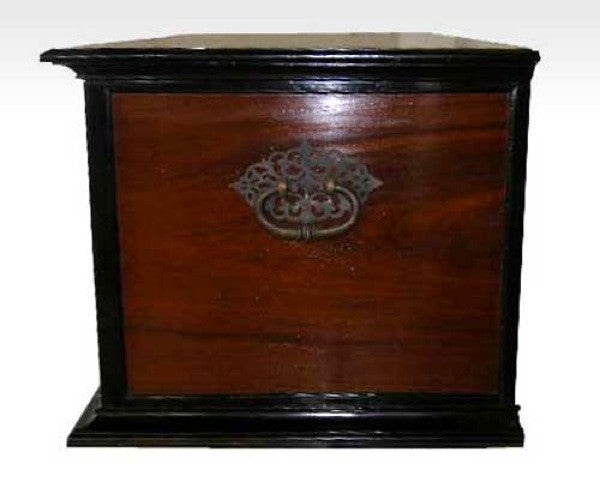 Dutch Colonial Ebony and Mahogany Trunk on Stand