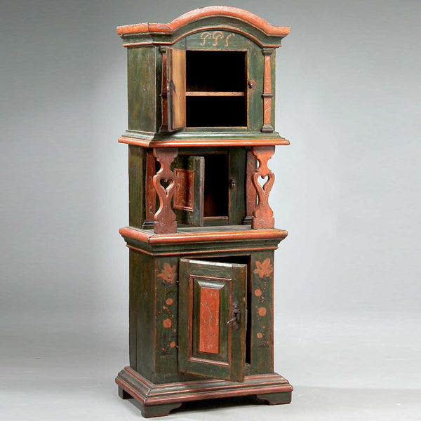 Danish Painted Oak Tobacco Side Cabinet
