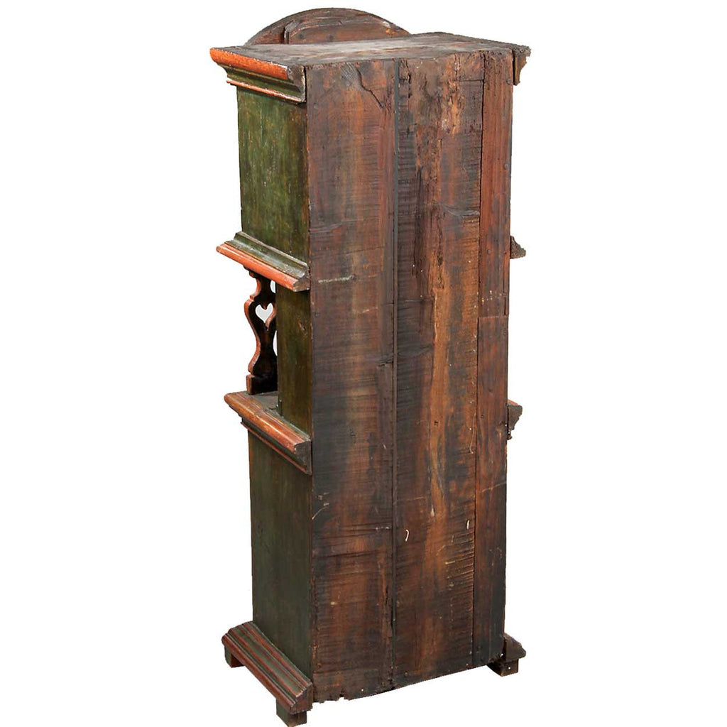 Danish Painted Oak Tobacco Side Cabinet - Antique Danish Painted Oak Tall Tobacco Cabinet