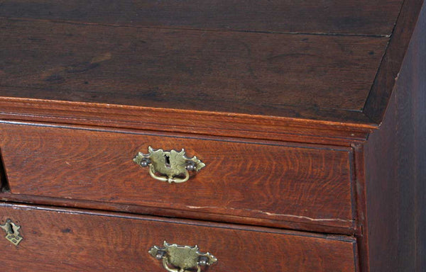 English Georgian Oak Two-Part Chest of Drawers