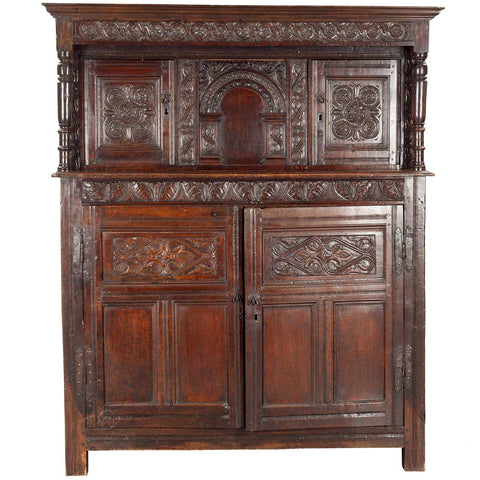 English Renaissance Oak Court Cupboard