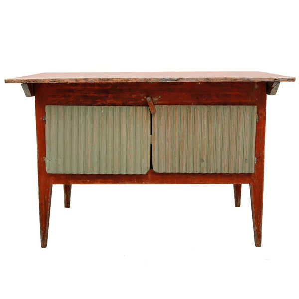 Swedish Folk Art Painted Pine Kitchen Work Table