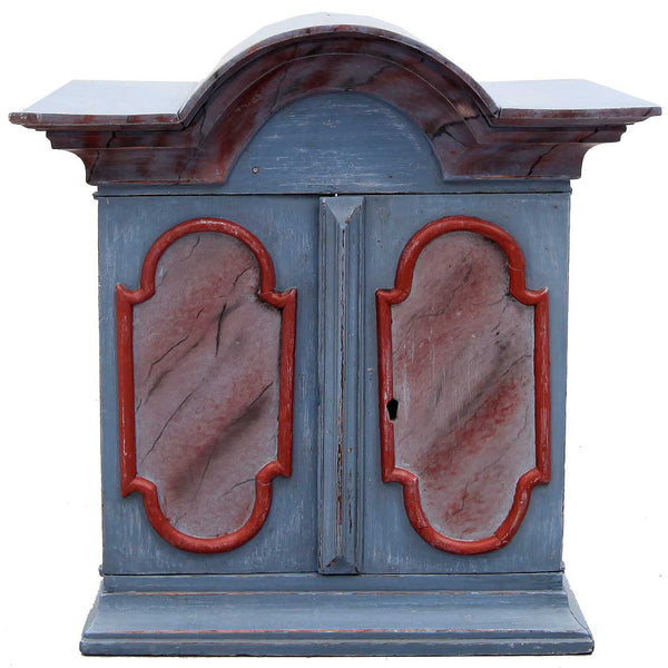 Swedish Baroque Painted Pine Hanging Cabinet