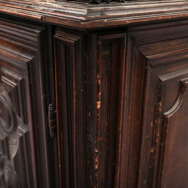 French Baroque Walnut Sideboard