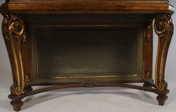 Louis XVI Style Bronze and Giltwood Vitrine on Stand