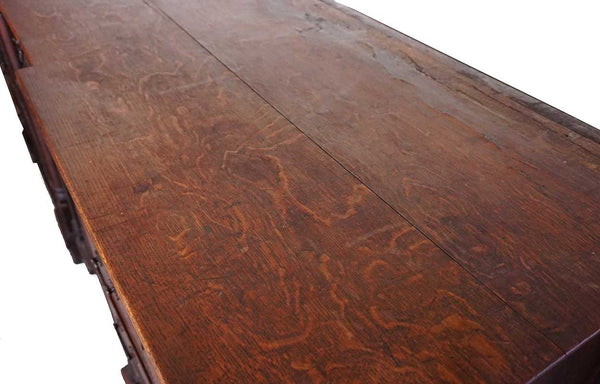 English Chippendale Oak Dresser Base