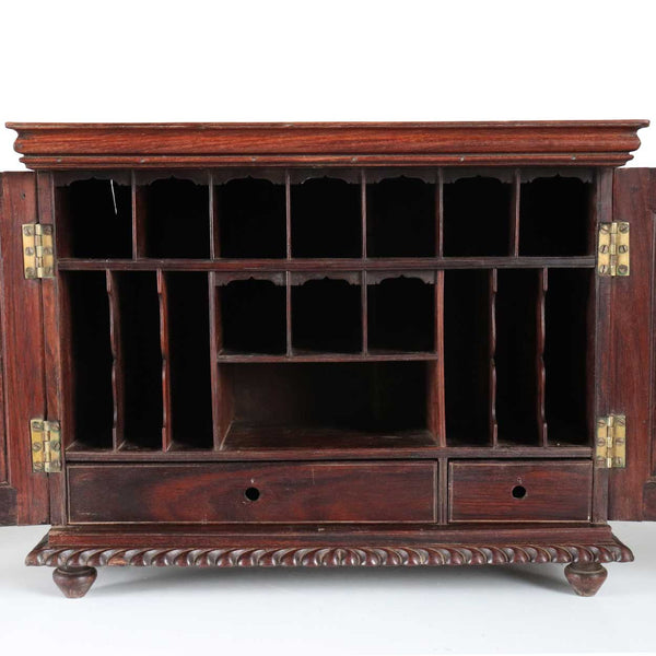 Anglo Indian William IV Rosewood Stationery Letter Box Table Cabinet