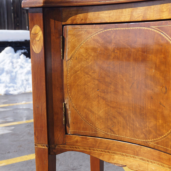 Rare Southern American Federal Inlaid Cherry Serpentine Sideboard
