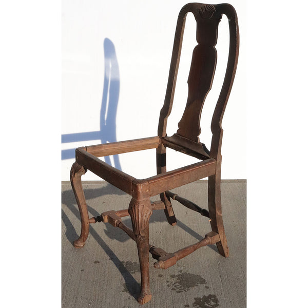 Indo-Portuguese Queen Anne Rosewood Side Chair