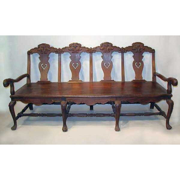 Indo-Portuguese Queen Anne Rosewood Settee