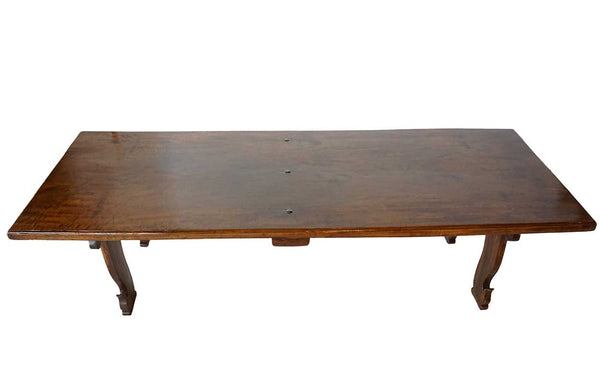 Indian Namboodhiri Teak and Fruitwood Low Table