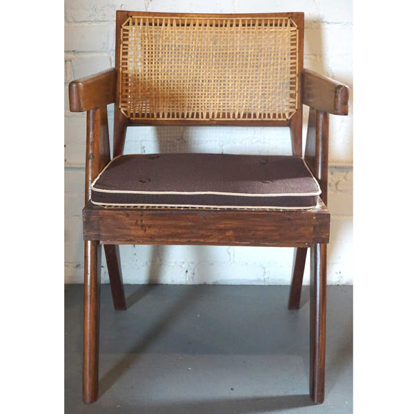 Assembled Set of Two Vintage PIERRE JEANNERET Teak Conference Chairs from Chandigarh, India