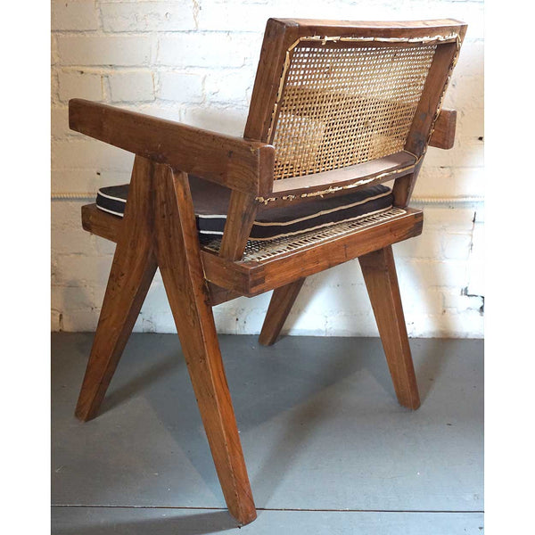 Vintage PIERRE JEANNERET Teak Conference Chair from Chandigarh, India