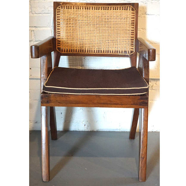 Assembled Set of Two PIERRE JEANNERET Teak Conference Chairs from Chandigarh, India