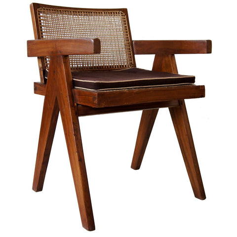 PIERRE JEANNERET Teak Conference Chair from Chandigarh, India