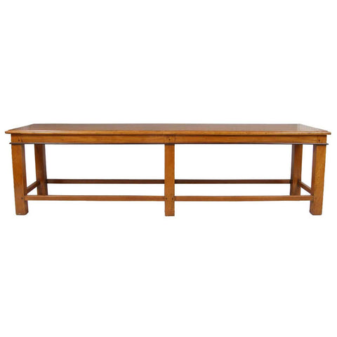 Large Anglo Indian Satinwood And Ebony Low Table/Long Bench