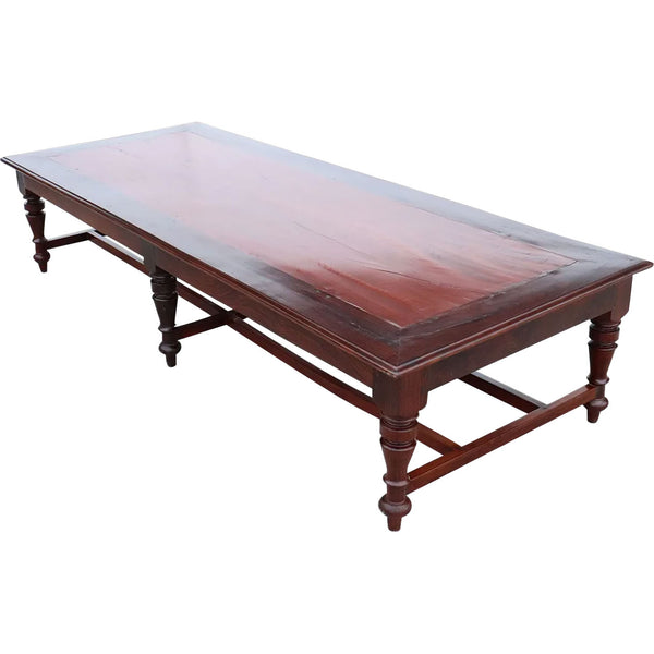 Large Anglo Indian Rosewood and Mahogany Bench/Low Table