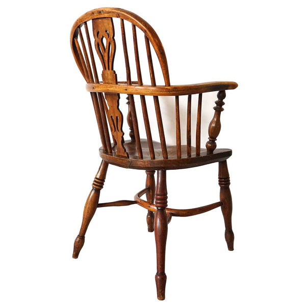 English Victorian Oak Windsor Armchair