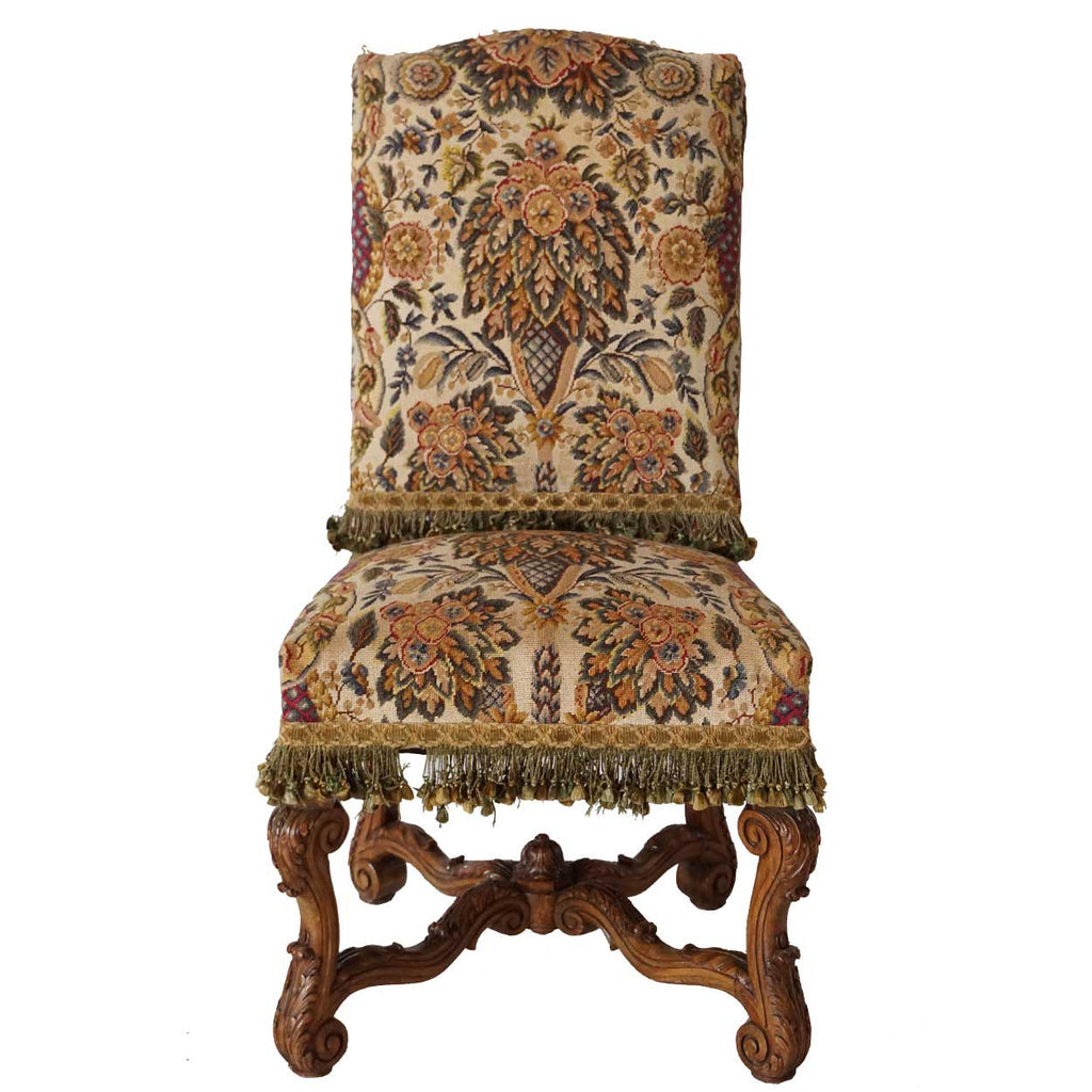 Antique louis xiv chair - Set Of Six French Louis Xiv Style Beechwood And Needlepoint Dining Chairs From Rose Terrace