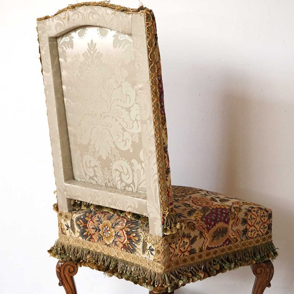 Set of Six French Louis XIV Style Beechwood and Needlepoint Dining Chairs from Rose Terrace