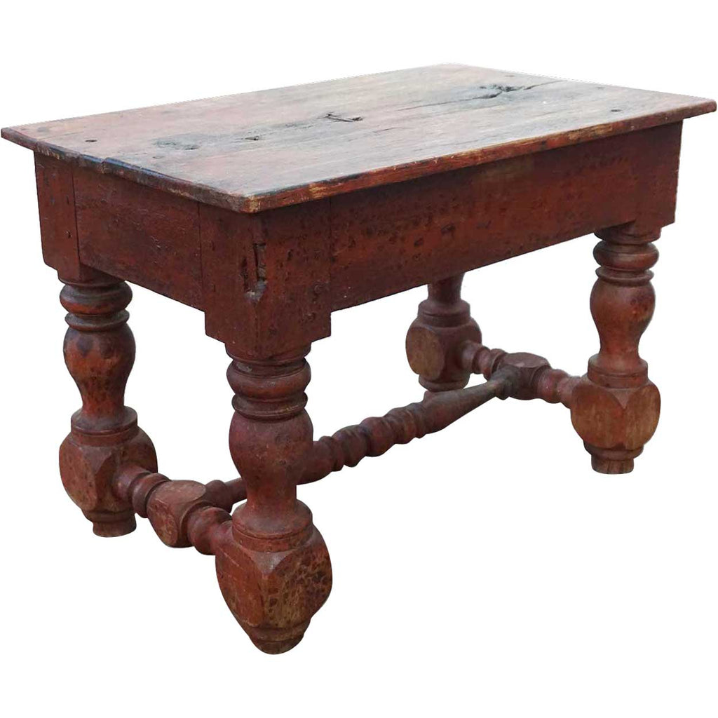 Fantastic Early Rare Indian Colonial 17Th Century Red Teak Rectangular Stool Side Table Ncnpc Chair Design For Home Ncnpcorg