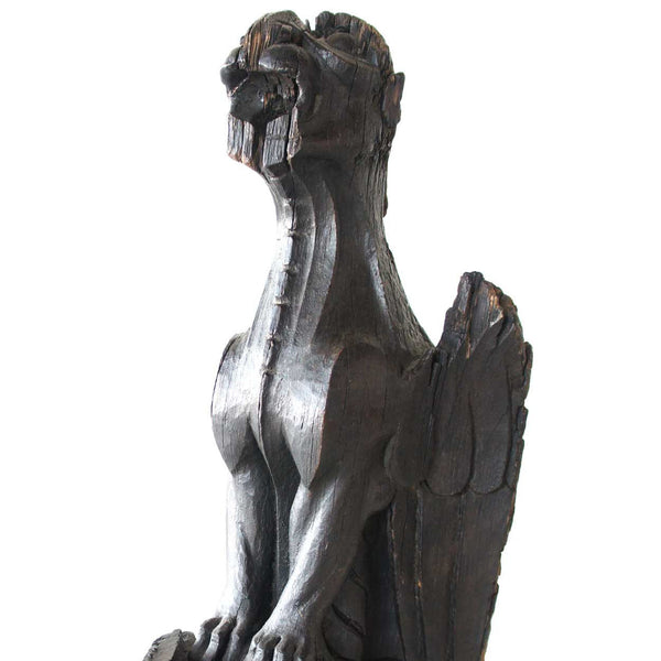 English Gothic Period Oak Architectural Gargoyle Bracket