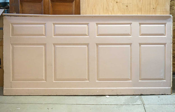 American Colonial Russell House Pink Painted Pine Paneled Dining Room