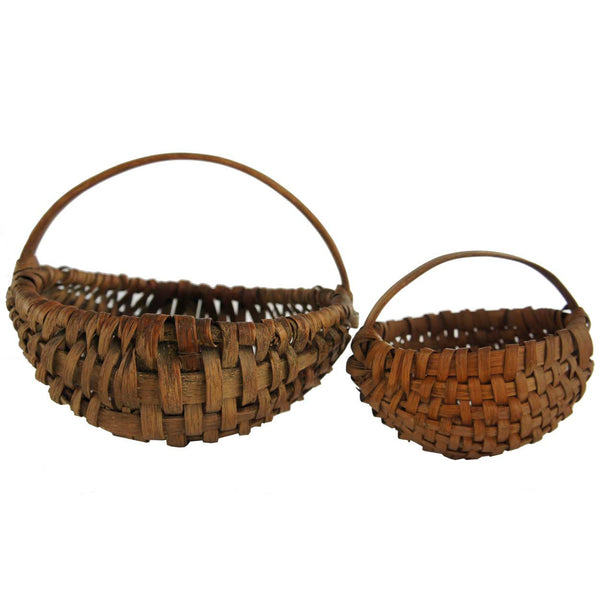 Two American Hand Woven Baskets