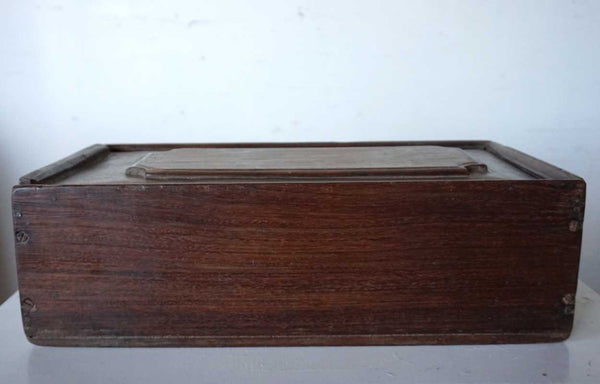 Anglo Indian Teak Slide Top Spice Box