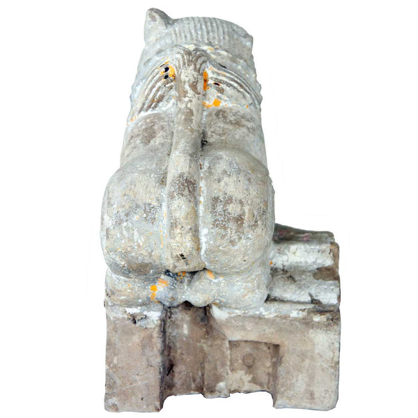 Indian Stone Vyala Architectural Figural Bracket