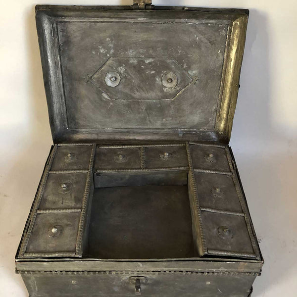 Anglo Indian Brass Coffer Box